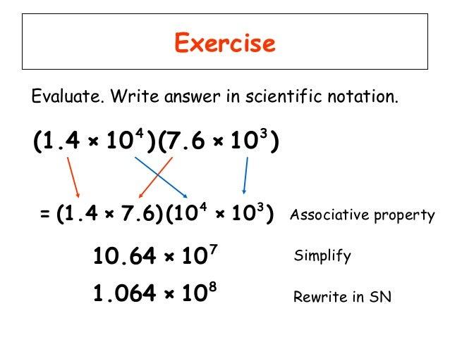 scientific notation problems