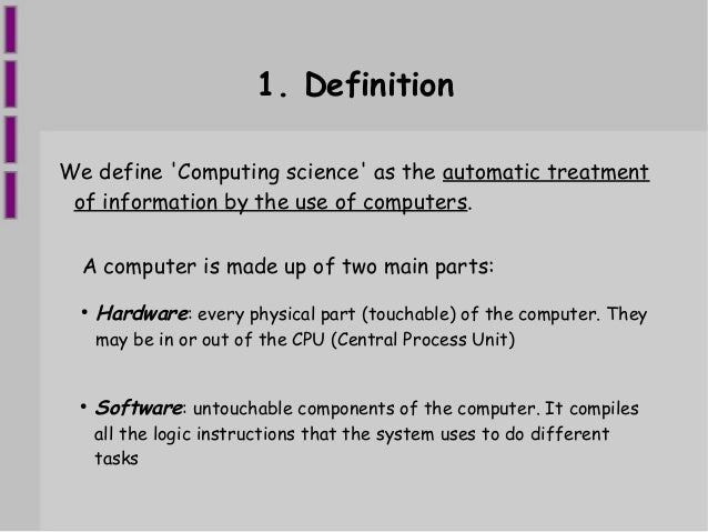 hardware and software definition Hardware