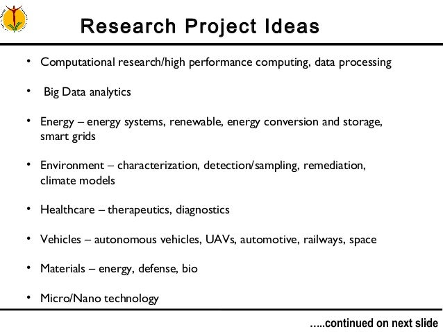 Research project topics computer science