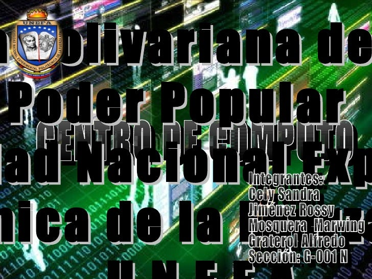 CENTRO DE CÒMPUTO Integrantes: Cely Sandra Jiménez Rossy Mosquera  Marwing Graterol Alfredo Sección: G-001 N República Bol...