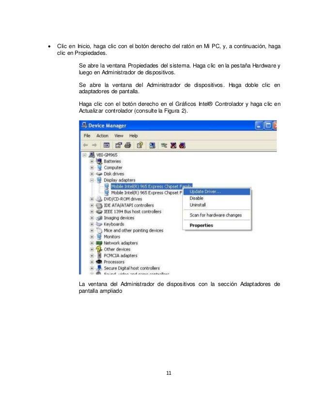  Clic en Inicio, haga clic con el botón derecho del ratón en Mi PC, y, a continuación, haga  11  clic en Propiedades.  Se...