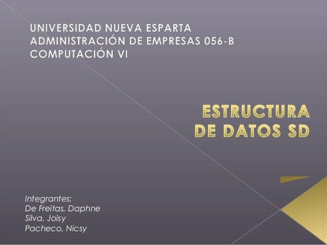 Integrantes: De Freitas, Daphne Silva, Joisy Pacheco, Nicsy