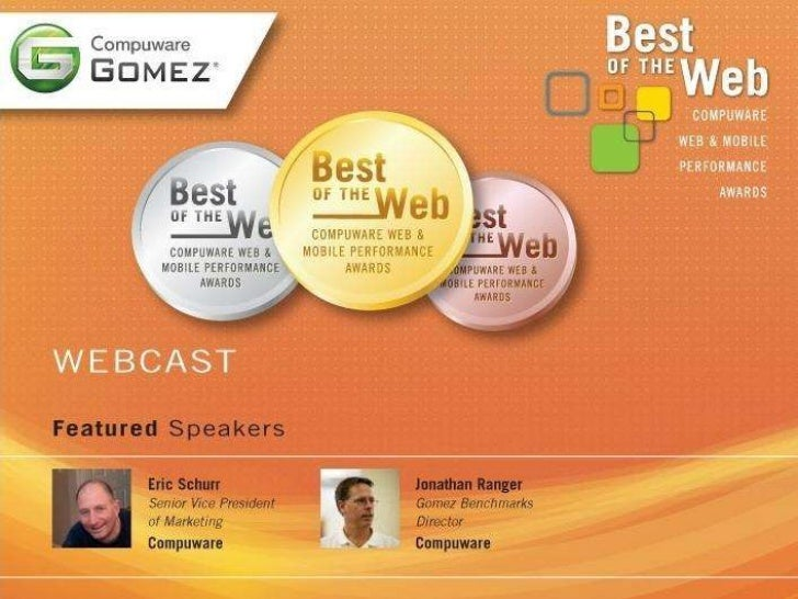 AGENDA           • Why Performance Matters•   Why Application Performance Matters           • The Best of the Web: this ye...