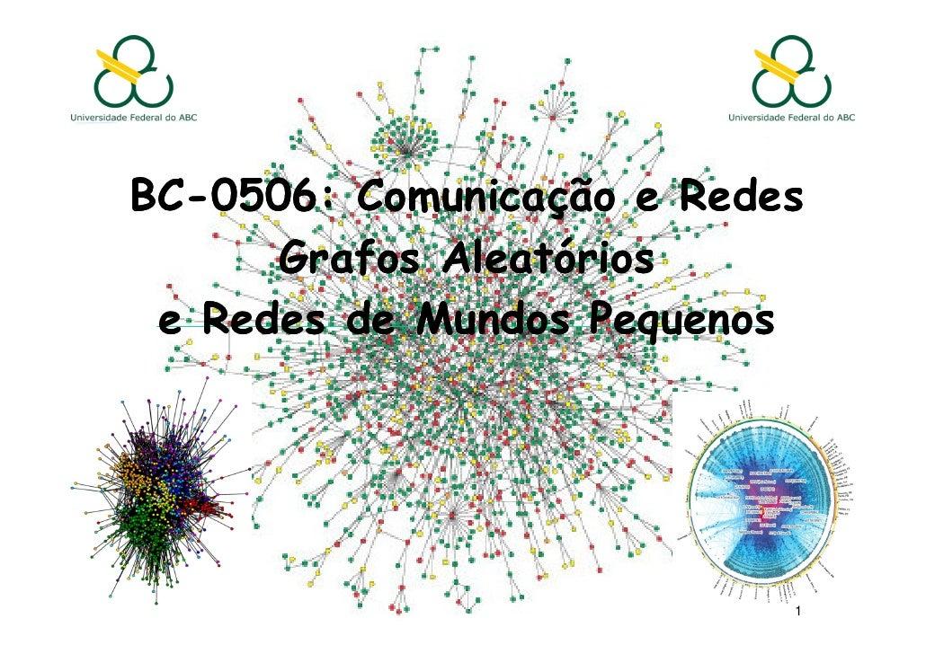 BC-0506: Comunicação e RedesBC-      Grafos Aleatórios e Redes de Mundos Pequenos                           1
