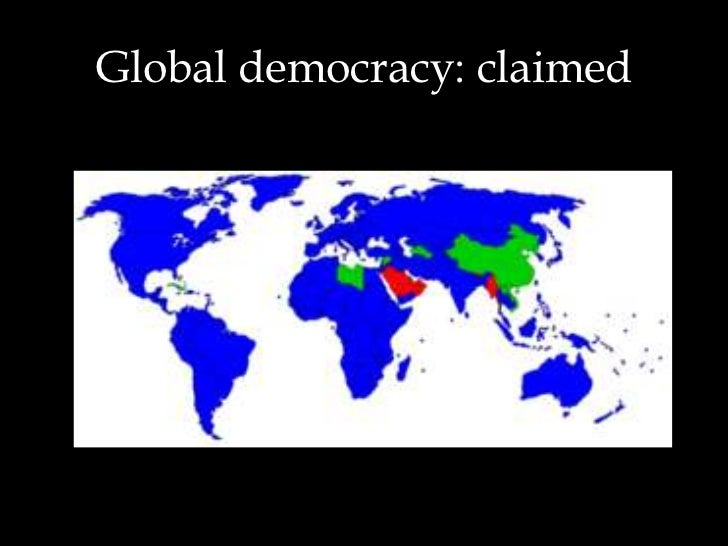 globalization promotes democracy both directly and This article studies the issue of democratization of countries within globalization context, it points to the unreasonably high economic and social costs of a rapid transition to democracy as a result of revolutions or of similar large-scale events for the countries unprepared for it.