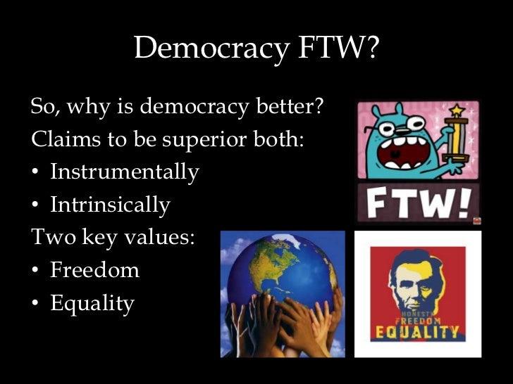 essay on democratic government