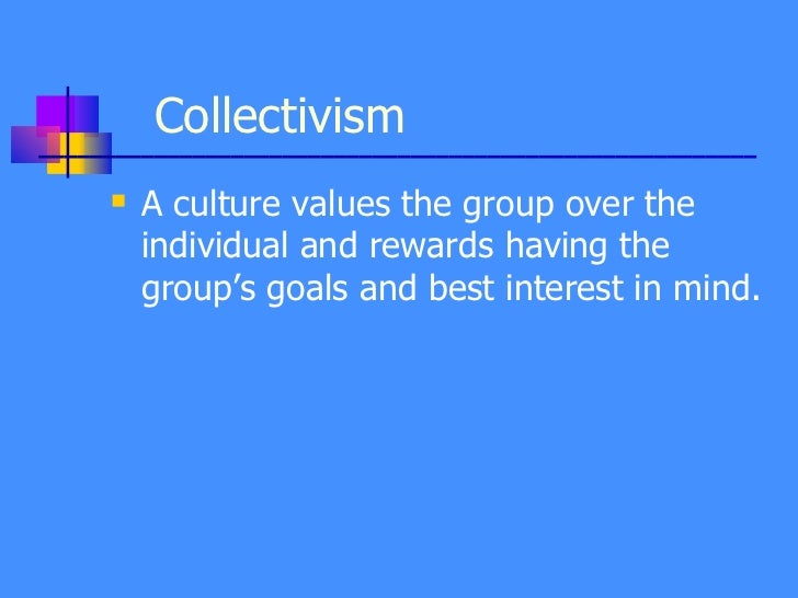 individualism collectivism and team performance Using experiments, this research examines the effects of individualism– collectivism (i–c) on creative performance in solitary diverse, understanding culture's impact on group performance is crucial to the conduct of literature on the antecedents of team performance is large however, findings on the.