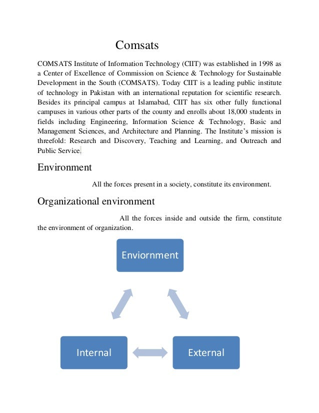 ComsatsCOMSATS Institute of Information Technology (CIIT) was established in 1998 asa Center of Excellence of Commission o...