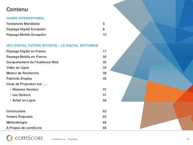 ContenuCADRE INTERNATIONALTendances Mondiales                                           5Paysage Digital Européen         ...