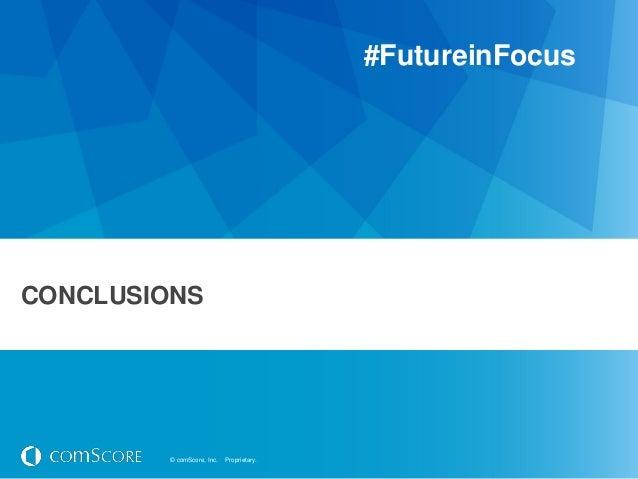 #FutureinFocusCONCLUSIONS         © comScore, Inc.   Proprietary.