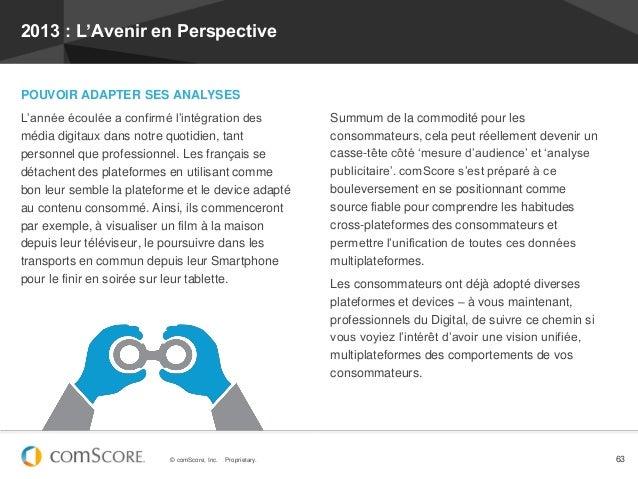 2013 : L'Avenir en PerspectivePOUVOIR ADAPTER SES ANALYSESL'année écoulée a confirmé l'intégration des                 Sum...