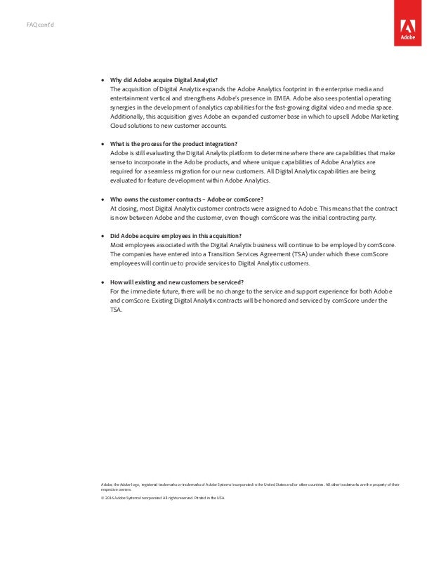 Adobe to acquire comScore's Digital Analytix technology Slide 2