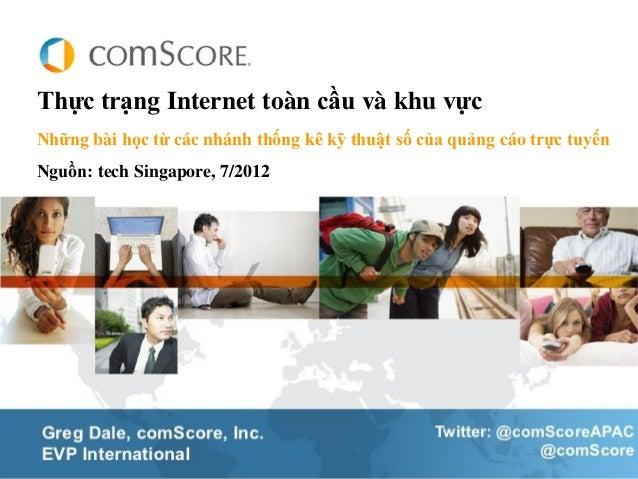 Thực trạng Internet toàn cầu và khu vựcNhững bài học từ các nhánh thống kê kỹ thuật số của quảng cáo trực tuyếnNguồn: tech...