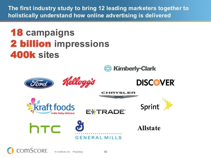 The first industry study to bring 12 leading marketers together toholistically understand how online advertising is delive...