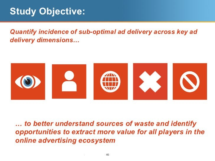Study Objective:Quantify incidence of sub-optimal ad delivery across key addelivery dimensions… … to better understand sou...