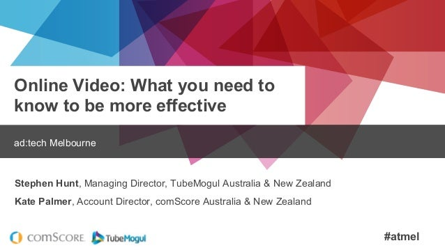 #atmel Online Video: What you need to know to be more effective ad:tech Melbourne Stephen Hunt, Managing Director, TubeMog...