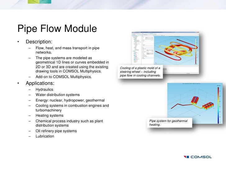 Pipe Flow Module Updates - COMSOL® 5.4 Release Highlights