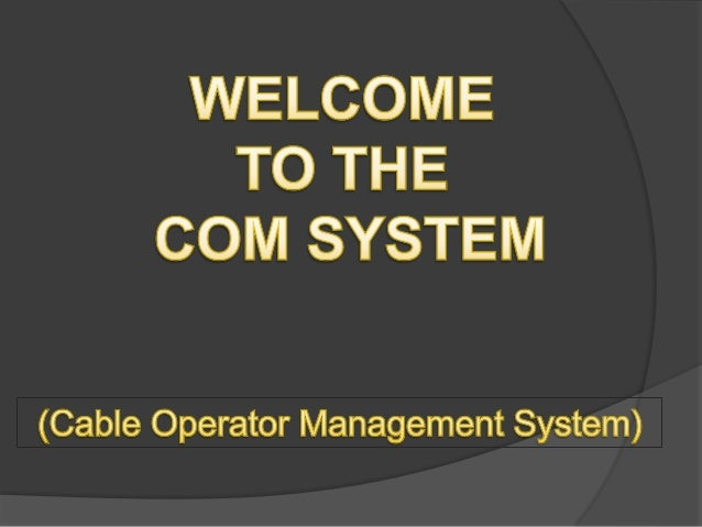 Cable tv management system software