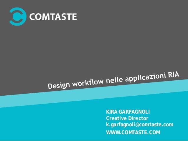 WWW.COMTASTE.COM KIRA GARFAGNOLI Creative Director k.garfagnoli@comtaste.com