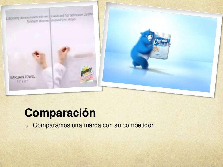 Comparacióno Comparamos una marca con su competidor