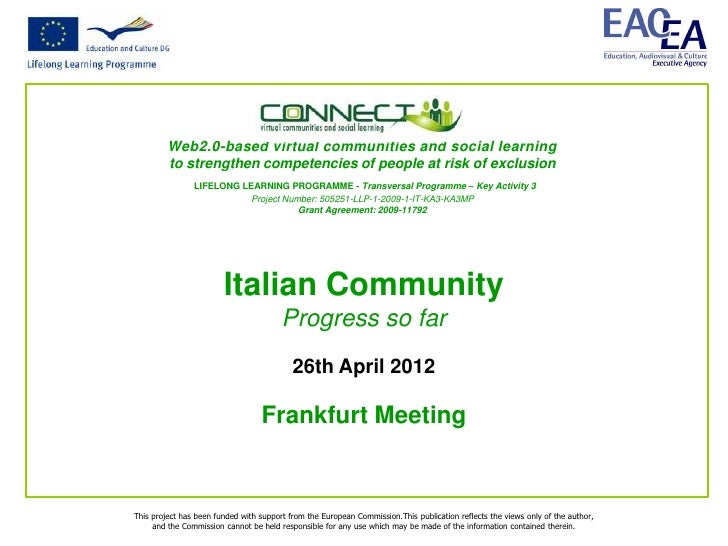Web2.0-based virtual communities and social learning         to strengthen competencies of people at risk of exclusion    ...