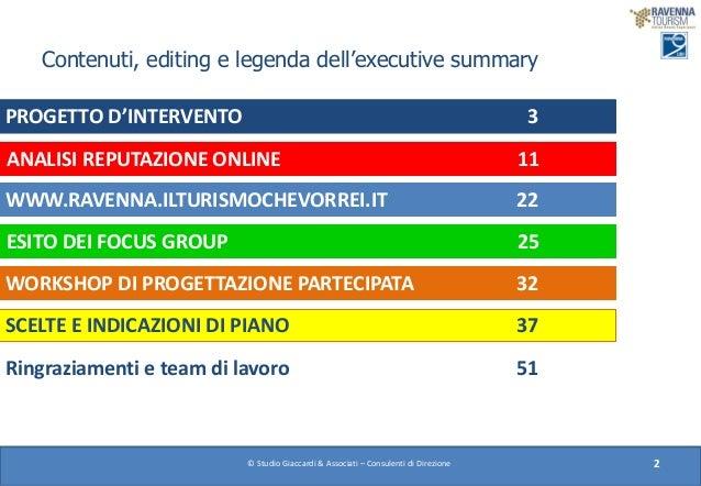 Executive summary Piano di Valorizzazione dei 9 lidi ravennati Slide 2