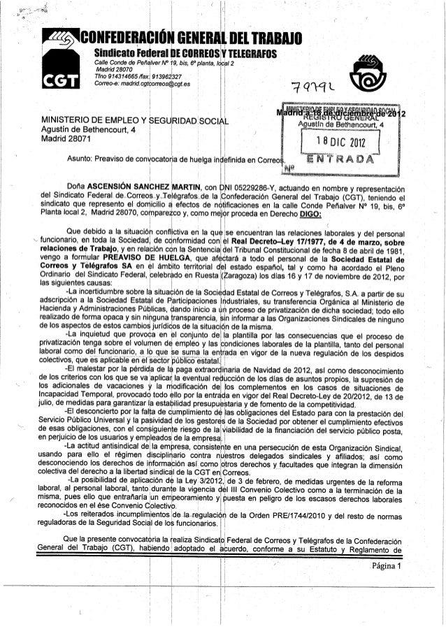conrrnrnnciúii criirniiijnri ¡mismo Sindicato Federal n!  cllllllEllsYTElElïllllFllS i  Calle Conde de PeñálverN° 19, bis,...