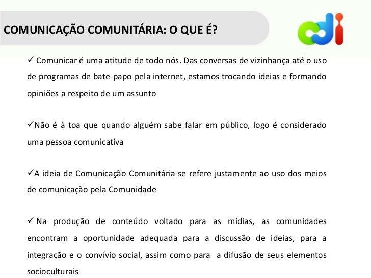 Comunicacao comunitaria mod1 Slide 3