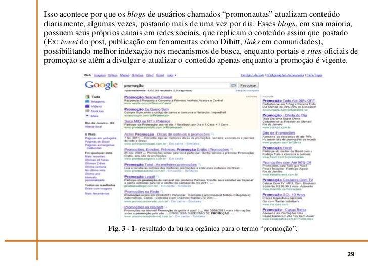 """Fig. 3 - 2- continuação do resultado da busca orgânica para o termo """"promoção"""".                                           ..."""