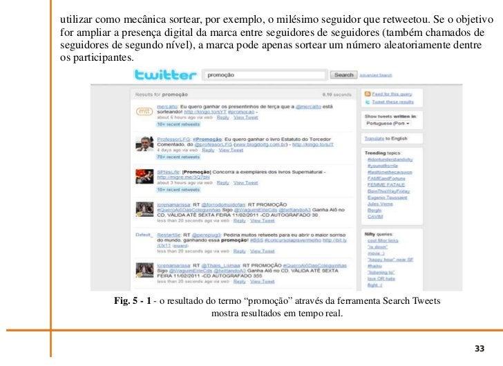 """Fig. 5 - 2 - continuação do o resultado do termo """"promoção"""" através da ferramenta Search Tweets                           ..."""