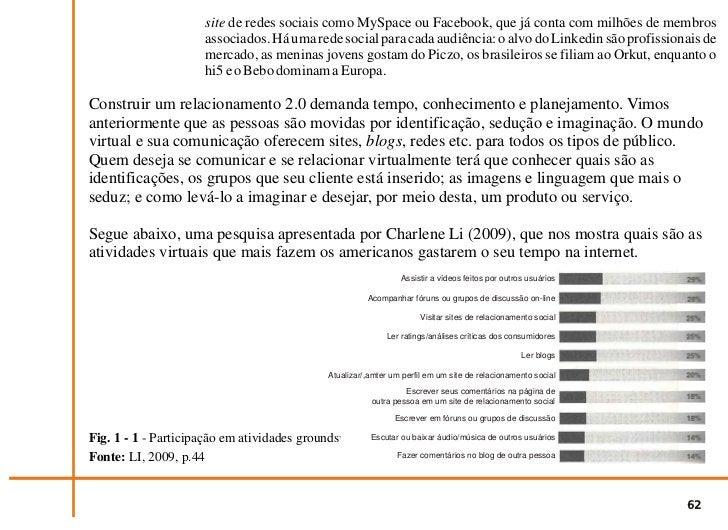 Fig. 1 - 2 - continuação de Participação em atividades groundswell.                       Fonte: LI, 2009, p.44           ...