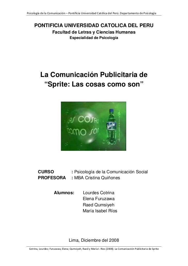 PsicologíadelaComunicación–PontificiaUniversidadCatólicadelPerú.DepartamentodePsicología         PONTIFICIA U...