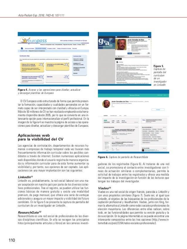 Comunicación científica (XXXII) Curriculum vitae