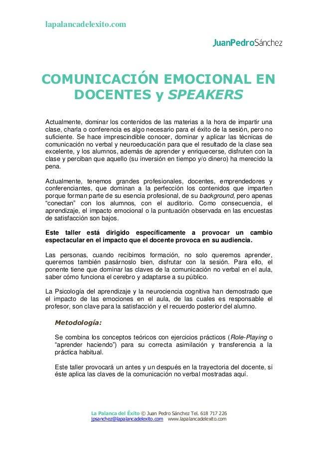 lapalancadelexito.com La Palanca del Éxito © Juan Pedro Sánchez Tel. 618 717 226 jpsanchez@lapalancadelexito.com www.lapal...
