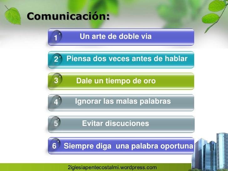 Comunicación en el matrimonio Slide 3