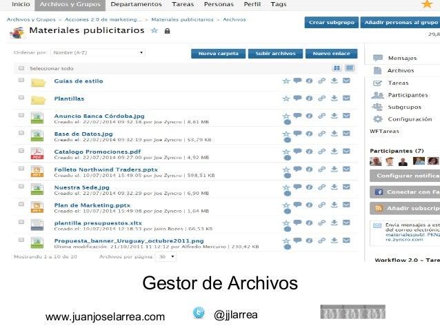 Gestor de Archivos  www.juanjoselarrea.com @jjlarrea