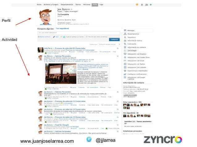 www.juanjoselarrea.com @jjlarrea  Perfil  Actividad