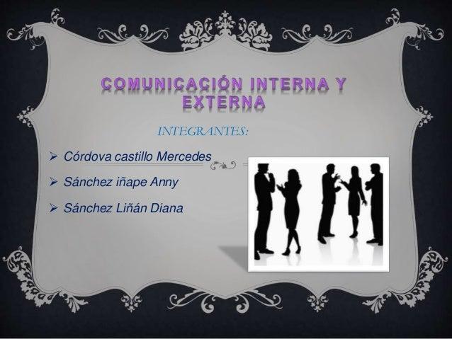INTEGRANTES:   Córdova castillo Mercedes   Sánchez iñape Anny   Sánchez Liñán Diana