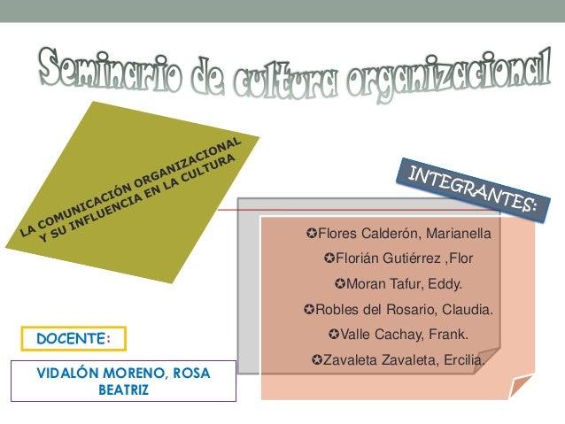 Flores Calderón, Marianella                          Florián Gutiérrez ,Flor                           Moran Tafur, Edd...