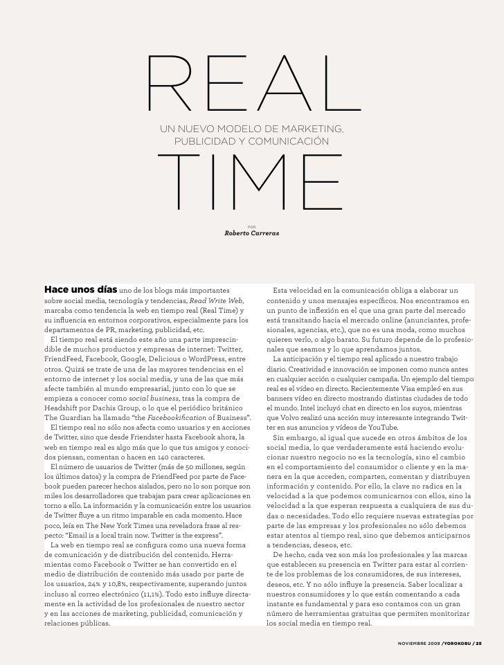 REAL  UN NUEVO MODELO DE MARKETING,                                       PUBLICIDAD Y COMUNICACIÓN                       ...