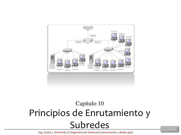 1<br />Capítulo 10<br />Principios de Enrutamiento y Subredes<br />