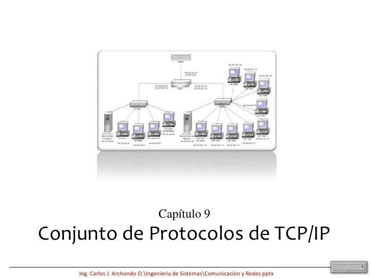 1<br />Capítulo 9<br />Conjunto de Protocolos de TCP/IP<br />