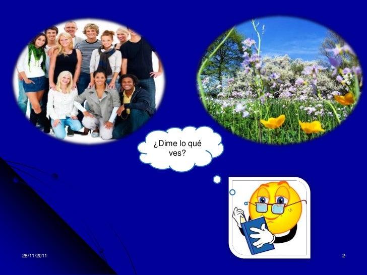 ¿Dime lo qué                ves?28/11/2011                  2