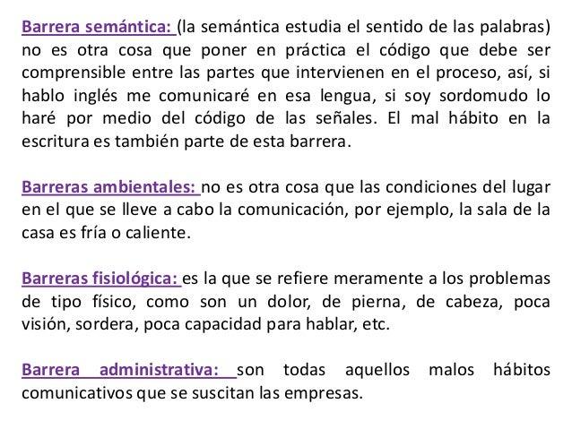 AMBIENTALES                                  VERBALESSEMÁNTICAS               BARRERAS EN EL               PROCESO DE LA  ...