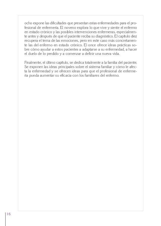 0. Primeras  24/5/07  11:56  Página 16  ocho expone las dificultades que presentan estas enfermedades para el profesional ...