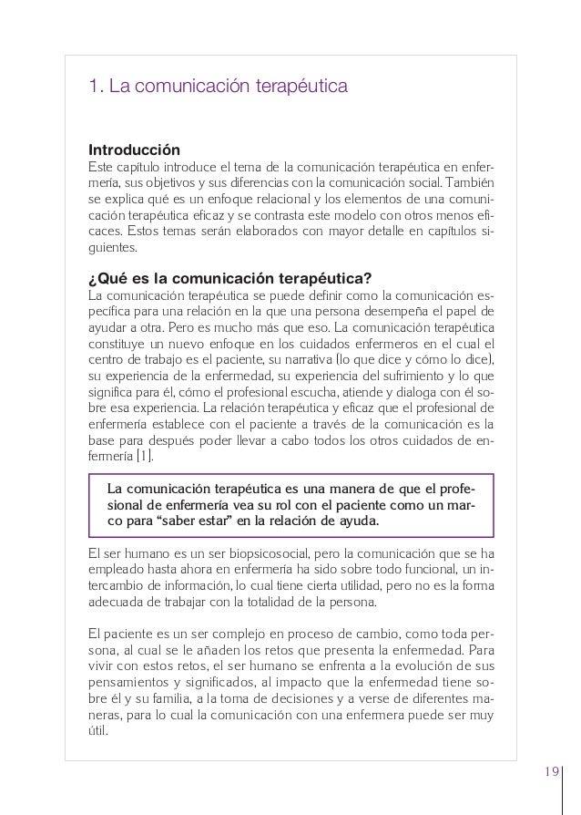 1. Cap. 1 Com terapeutica  24/5/07  11:58  Página 19  1. La comunicación terapéutica  Introducción Este capítulo introduce...