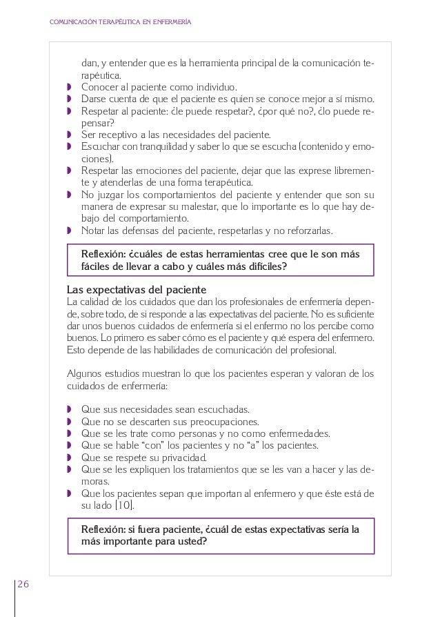 1. Cap. 1 Com terapeutica  24/5/07  11:58  Página 26  COMUNICACIÓN TERAPÉUTICA EN ENFERMERÍA  Q Q Q Q Q Q Q  Q  dan, y ent...