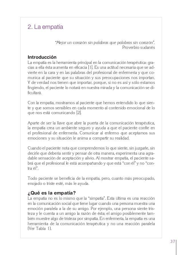 """2. Cap. 2 La empatía  24/5/07  12:47  Página 37  2. La empatía """"Mejor un corazón sin palabras que palabras sin corazón"""". P..."""