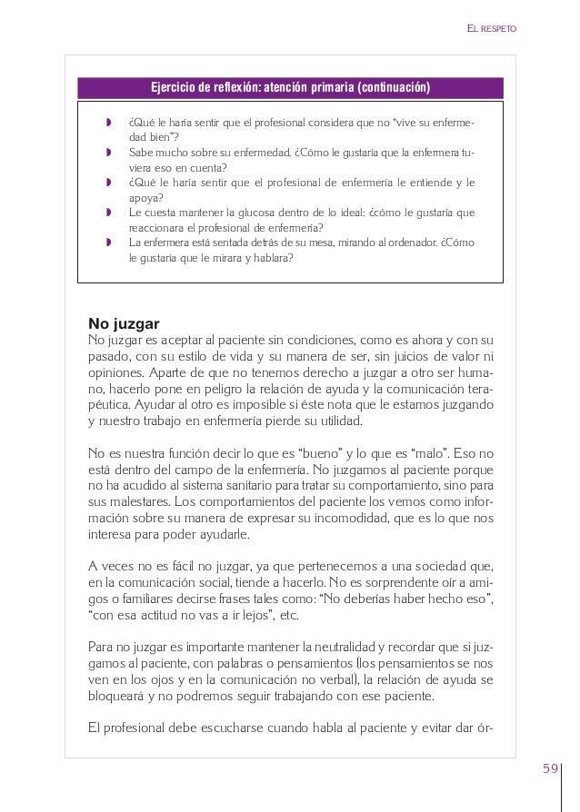 3. Cap. 3 El respeto  24/5/07  12:11  Página 59  EL RESPETO  Ejercicio de reflexión: atención primaria (continuación) Q Q ...