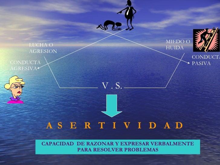 LUCHA O AGRESION MIEDO O HUIDA V . S. A  S  E  R  T  I  V  I  D  A  D CAPACIDAD  DE RAZONAR Y EXPRESAR VERBALMENTE PARA RE...